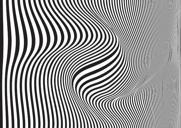 Закрученный полосатый фон Бесплатные векторы