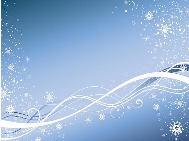 Зимний абстрактный фон Бесплатные векторы