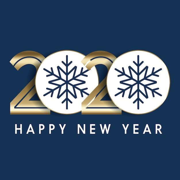 装飾的な数字で幸せな新年の背景 無料ベクター