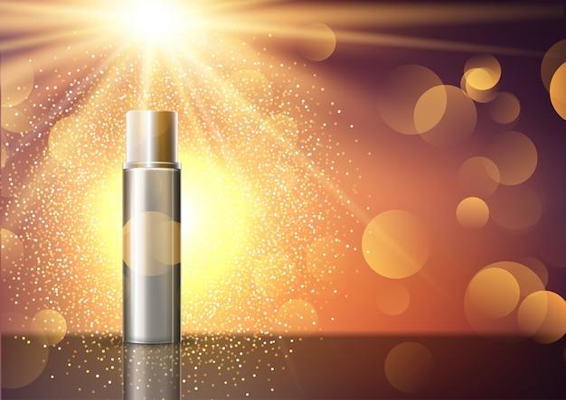 ディスプレイ上の空白の化粧品ボトル 無料ベクター