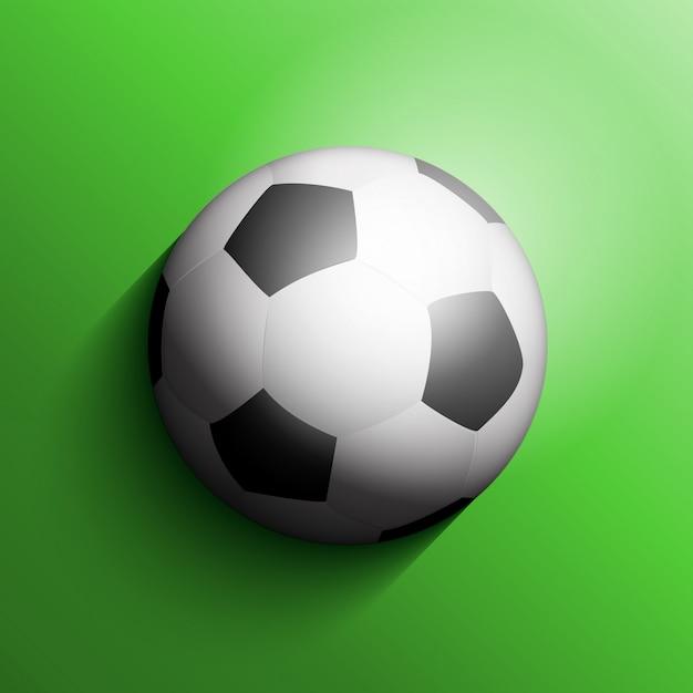 Футбольный мяч или футбольный фон Бесплатные векторы