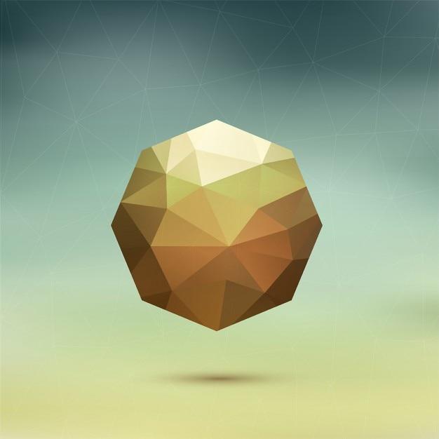 ぼやけた背景に幾何学的な八角形 無料ベクター