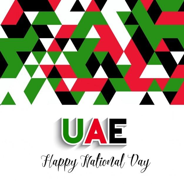 Декоративный фон геометрический стиль для празднования национальный день оаэ Бесплатные векторы