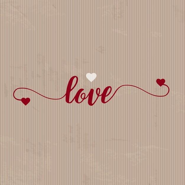 紙の質感を持つバレンタインの背景 無料ベクター