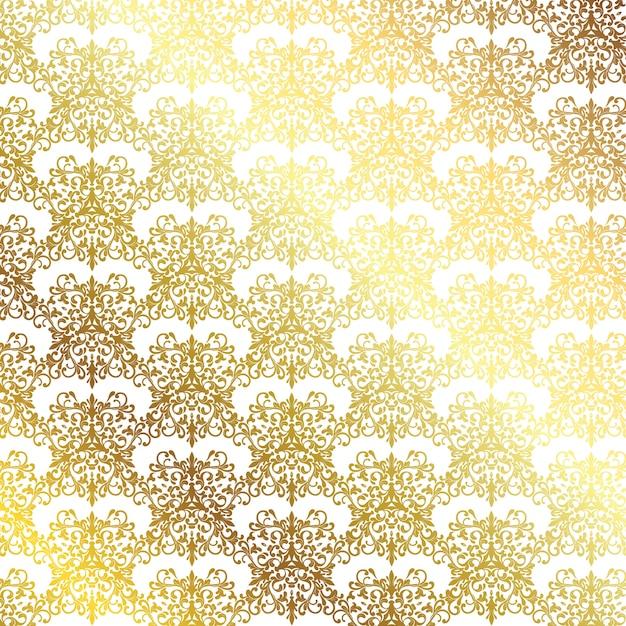 装飾的な金色のパターンとエレガントな背景 無料ベクター