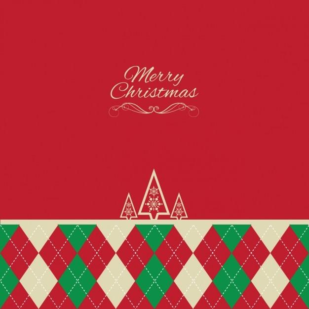 菱形とクリスマスの背景 無料ベクター