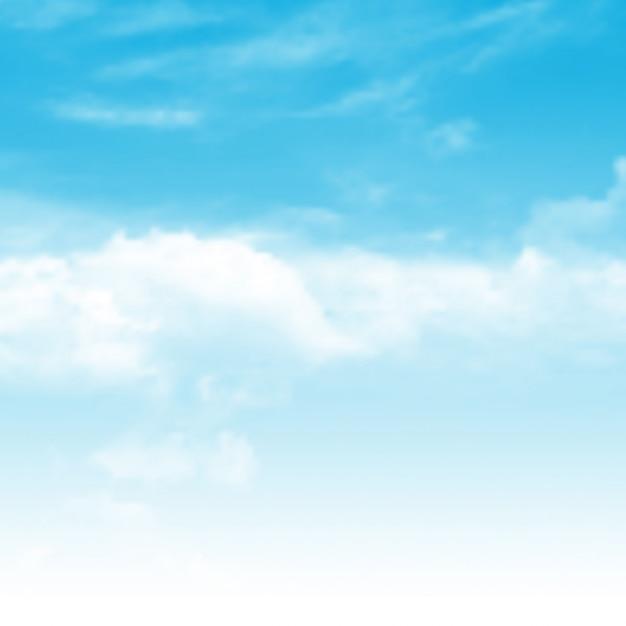 現実的な青空の背景 無料ベクター