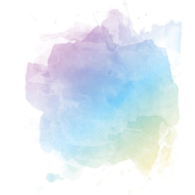 パステルの水彩の背景 無料ベクター