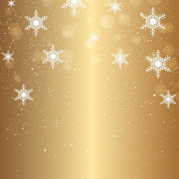 落ちる雪片のクリスマスの背景 無料ベクター