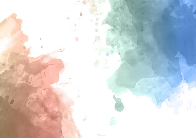 水彩抽象的な背景 無料ベクター
