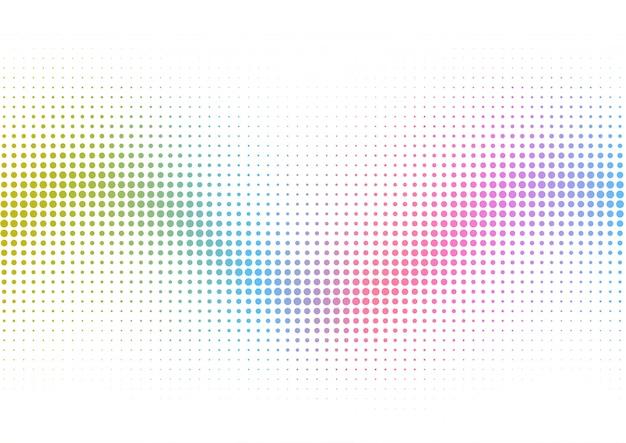 虹のハーフトーンドットの背景 無料ベクター