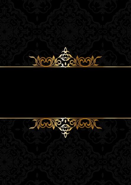 黒と金の装飾的なエレガントな背景 無料ベクター