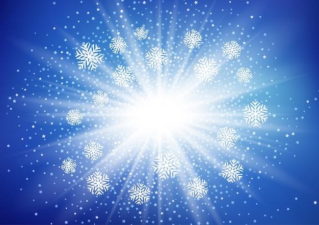 クリスマスの雪の背景 無料ベクター