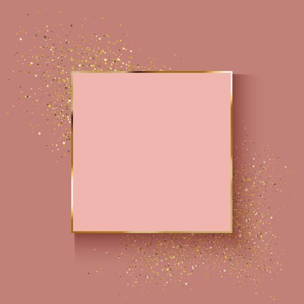 キラキラ効果を持つ装飾的なローズゴールドの背景 Premiumベクター