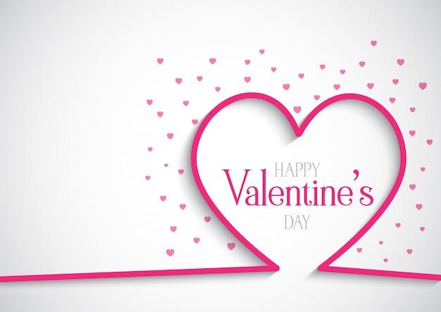 День святого валентина фон с сердечками Бесплатные векторы
