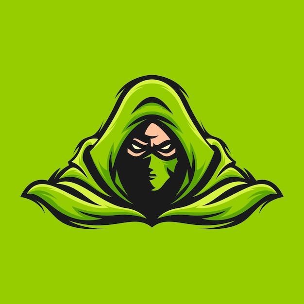 暗殺者のロゴデザイン Premiumベクター