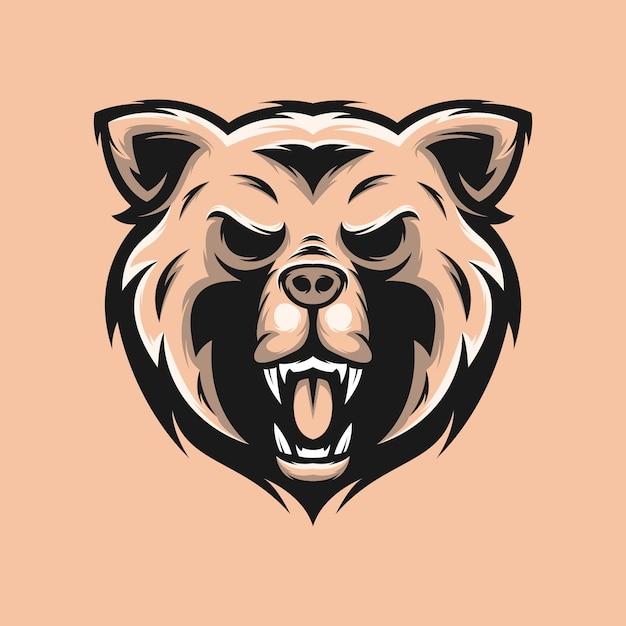 Дизайн логотипа медведя Premium векторы