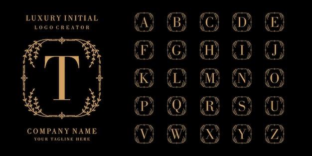 モノグラムまたは頭文字の装飾的なロゴのコレクション Premiumベクター