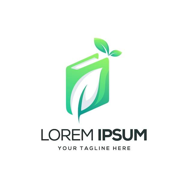本葉のロゴデザイン Premiumベクター