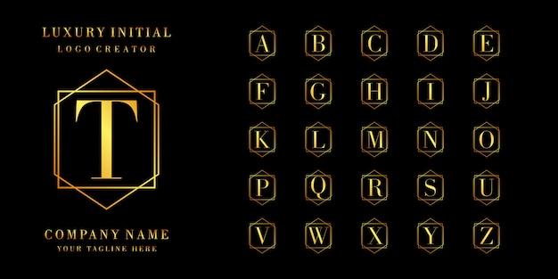 初期コレクションのロゴデザイン Premiumベクター