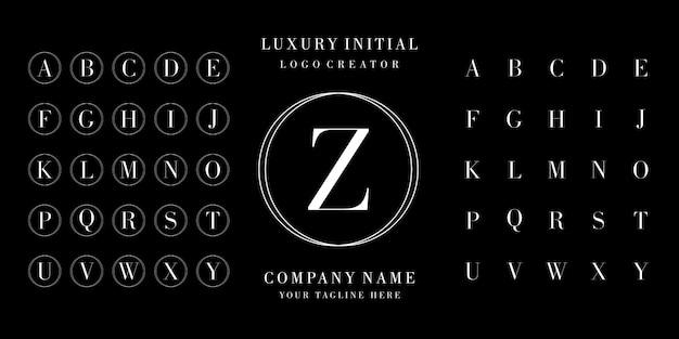 初期ロゴデザインのアルファベット Premiumベクター