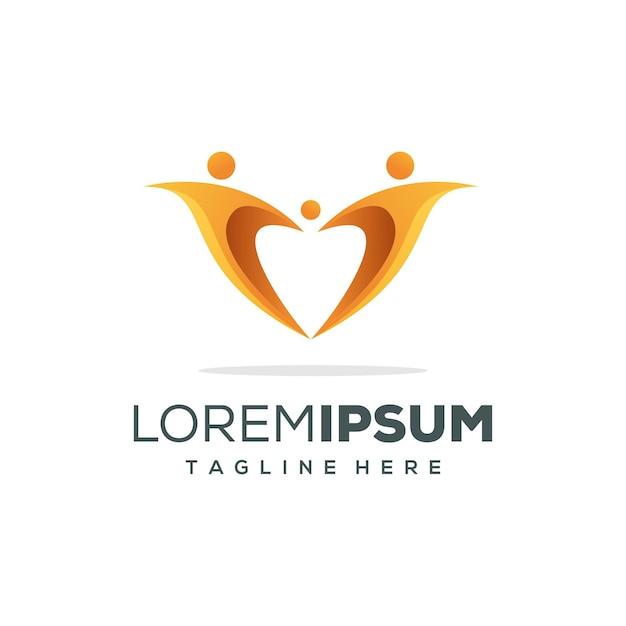 家族のロゴデザイン Premiumベクター