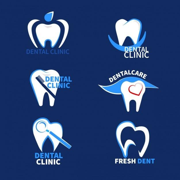 Стоматологические логотипы Бесплатные векторы