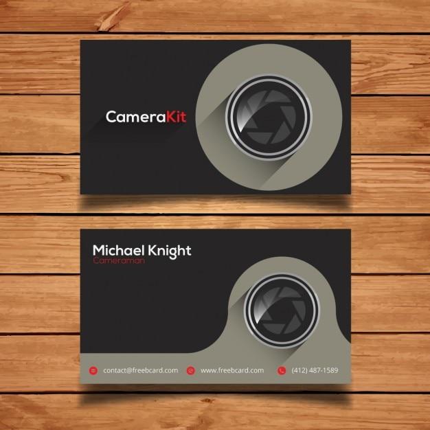 写真撮影のためのコーポレートカードテンプレート 無料ベクター