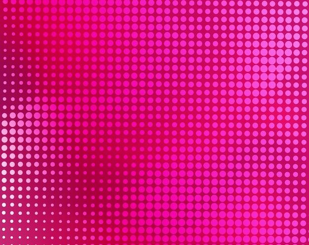 モダンなピンクの抽象的なハーフトーンの背景 Premiumベクター