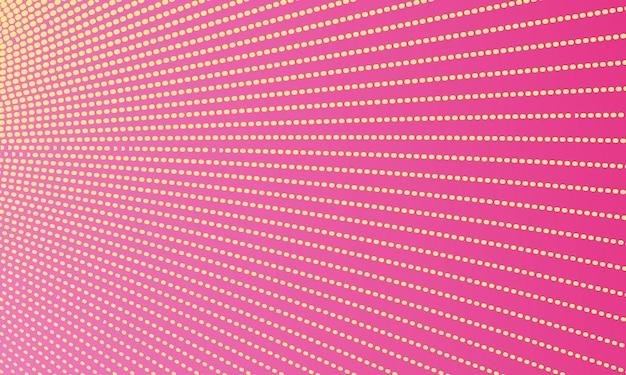 ピンクの抽象的な点線の背景 Premiumベクター