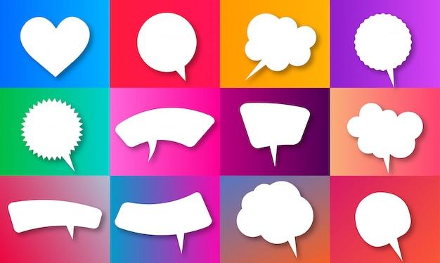 Пустой пустой набор речи пузырь Premium векторы
