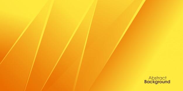 Желтый геометрический фон Premium векторы