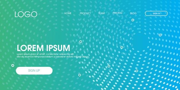 最小限の抽象モダンなウェブランディングページテンプレート Premiumベクター