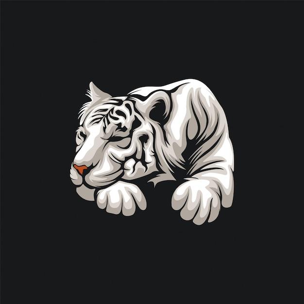 Дизайн иллюстрации тигра Premium векторы
