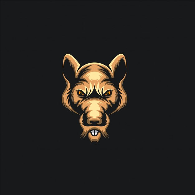 Логотип мыши Premium векторы
