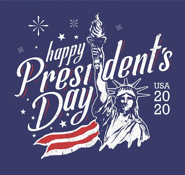 アメリカ大統領の日の自由の図 Premiumベクター
