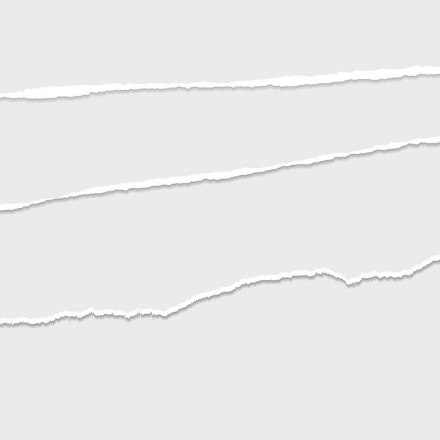 灰色のベクトルの破れた紙の仕切りの背景 Premiumベクター