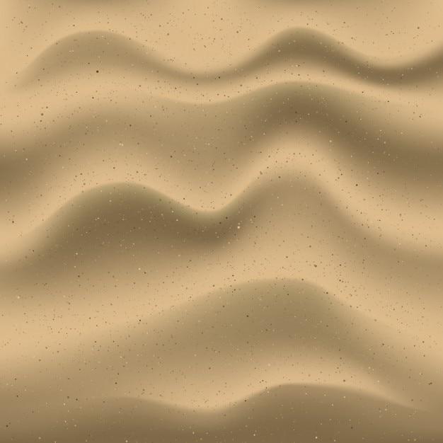 現実的な砂の背景 無料ベクター
