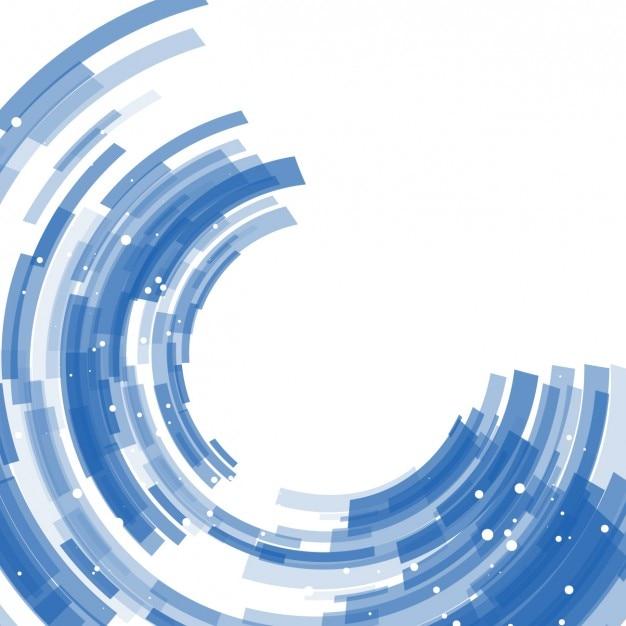 Синий фон абстрактные полукольцами Бесплатные векторы