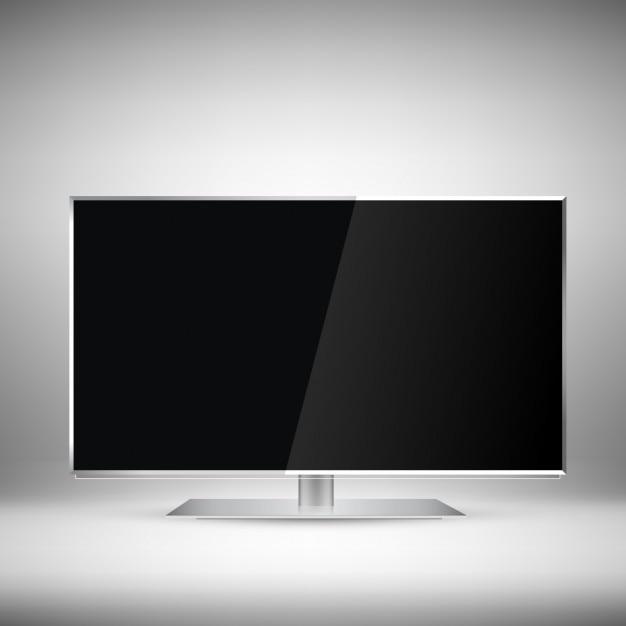 現実的なテレビのデザイン 無料ベクター