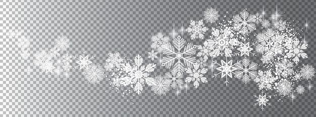 透明な雪の波 Premiumベクター