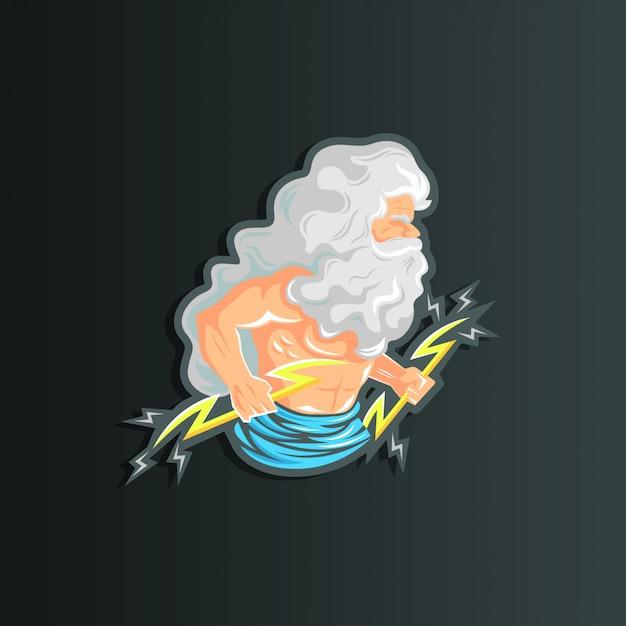 Зевс иллюстрация персонажа Premium векторы