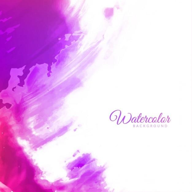 抽象的な紫色の水彩画の背景デザイン 無料ベクター