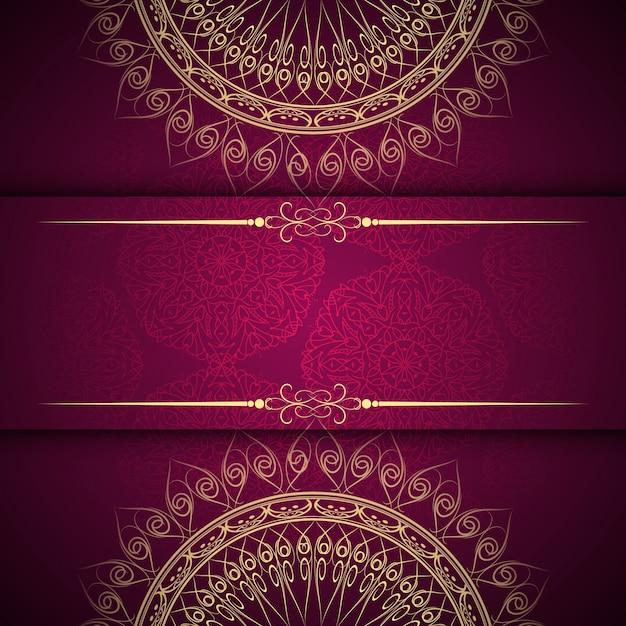 抽象的な美しい曼荼羅のデザインの背景 無料ベクター