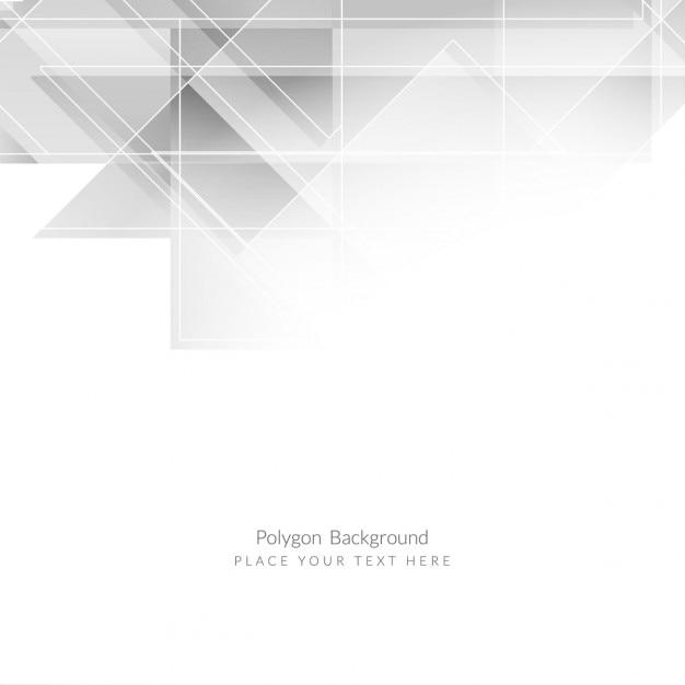 グレー色のポリゴンの背景デザイン 無料ベクター
