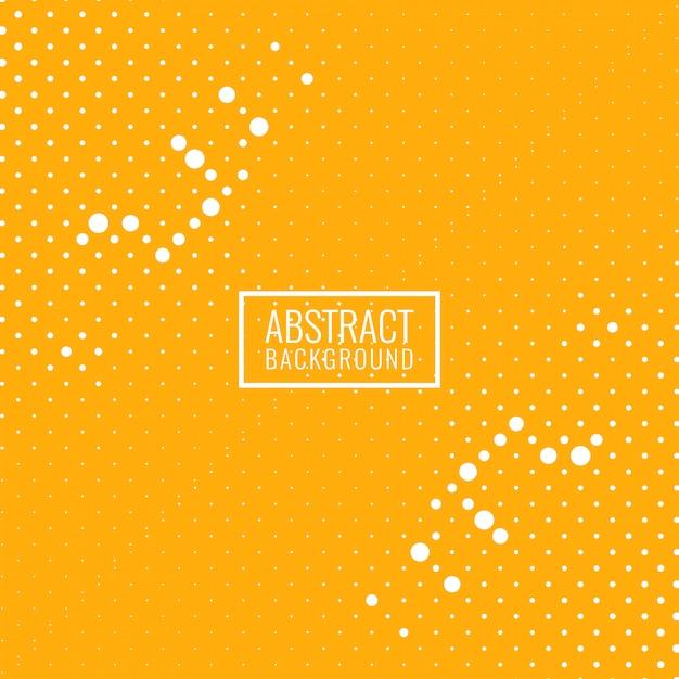抽象的な明るい黄色のハーフトーンの背景 無料ベクター
