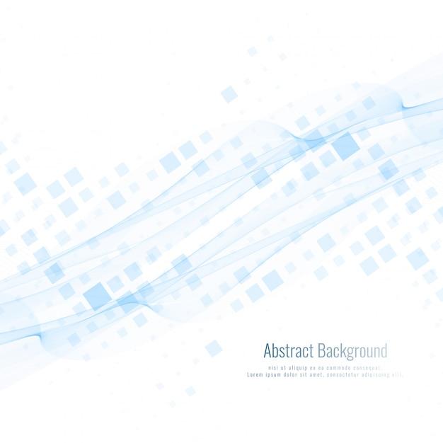 抽象的な波の背景とモザイク 無料ベクター