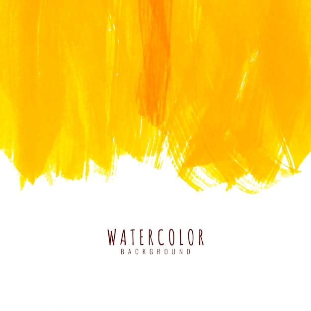 抽象的な黄色の水彩の背景 無料ベクター
