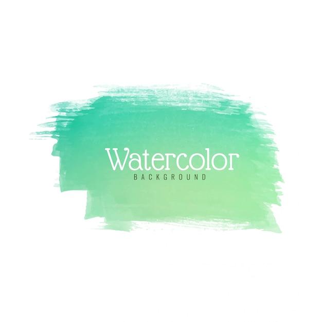 モダンなグリーンの水彩ストロークデザイン Premiumベクター