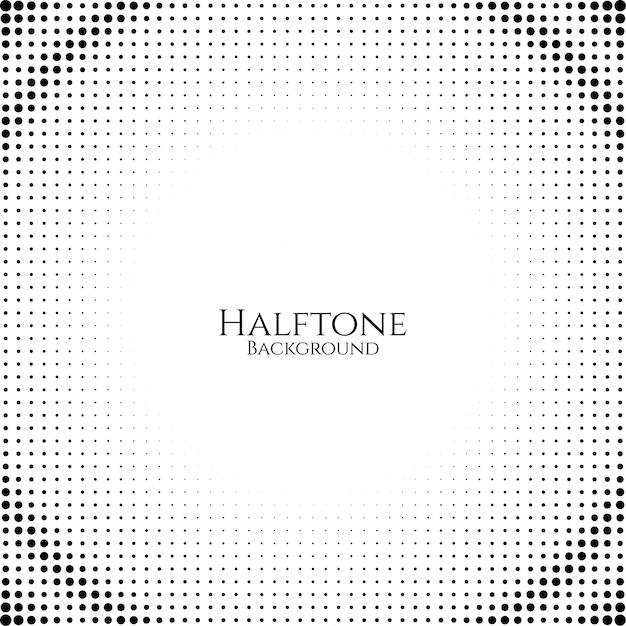 抽象的なハーフトーンデザインの背景のベクトル 無料ベクター